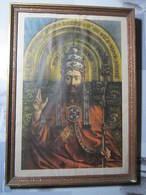 Tableau VAN EYCK PINXIT L'ADORATION DE L'AGNEAU MYSTIQUE Dimension 39 X 54,5 Cm - Other Collections