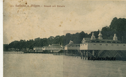 AK Rügen, Saßnitz, Strand Mit Bädern - Ruegen
