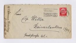 DR MWSt - HEIDELBERG, Vermeidet Rundfunk Störungen > Kaiserslautern 1938, Brief Mit Inhalt - Machine Stamps (ATM)