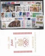PROMOTION MONACO - 1998 - ANNEE COMPLETE ** 40 TIMBRES - COTE YVERT = 123 EUROS - Monaco