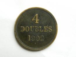 Guernesey 4 Doubles 1902 1902 Et 1903 (lot De 3 Pièces) - Guernesey