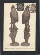 CPA Fétiche Totem Afrique Noire Dahomey Timbré Non Circulé Béhanzin Roi King - Dahomey