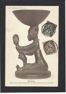 CPA Fétiche Totem Afrique Noire Dahomey Timbré Non Circulé - Dahomey