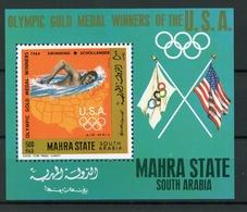 Mahra (Aden) MiNr. Block 13A Postfrisch MNH Olympia (Oly1455 - Timbres