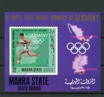 Mahra (Aden) MiNr. Block 15A Postfrisch MNH Olympia (Oly1459 - Timbres