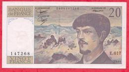 "10 Francs ""Debussy"" 1985 -------XF/SUP+-Série E.017 - 1962-1997 ''Francs''"