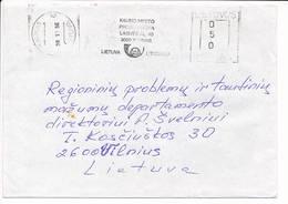 Commercial Meter Cover Freistempel - 20 November 1996 Kaunas - Lituanie