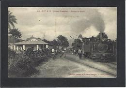 CPA Guinée Afrique Noire écrite Gare Chemin De Fer Train KOURIA - Guinée Française