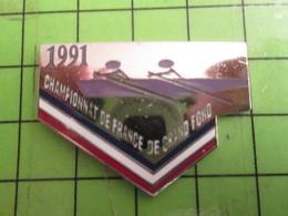 416b Pins Pin's / Rare Et De Belle Qualité  THEME : SPORTS / AVIRON CHAMPIONNAT DE FRANCE DE GRAND FOND - Roeisport