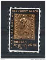Bouthan. Anniversaire Du Penny Black - Bhután