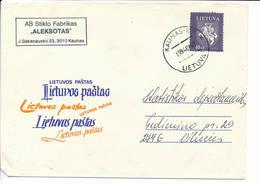 Mi 554 Solo Domestic Cover Definitive - 3 July 1994 Kaunas-10P - Lituanie