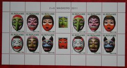Surinam / Suriname 2011 Maskers Mask Maschere Masques Complete Sheet (ZBL 1855-1860  Mi 2533-2538) POSTFRIS / MNH ** - Surinam