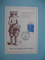 Carte  1986  Foire Aux Fromages De La Capelle - Marchand De Maroillles - Métiers
