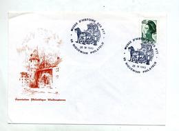 Lettre Cachet Riquewihr Musee Diligence Postale - Marcophilie (Lettres)