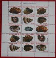 Surinam / Suriname 2011 Schelpen Shells Muscheln Coquilles Complete Sheet (ZBL 1770-1776 Mi 2447-2453) POSTFRIS / MNH ** - Surinam