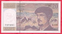 """10 Francs """"Debussy"""" 1997 -------AU/SPL-----Série Z.059--TRES BEAU BILLET - 1962-1997 ''Francs''"""