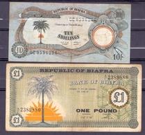 Biafra  1 Pound + 10 Shillings + 1 Pound - Autres - Afrique