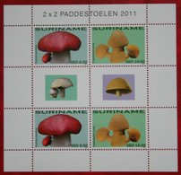 Surinam / Suriname 2011 Paddenstoelen Mushrooms Pilze Champignons (ZBL 1777-1778- Mi 2454-2455)  POSTFRIS / MNH ** - Surinam