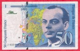 "50 Francs ""St Exupéry"" 1994----F/TTB+--n °J023493332 - 1992-2000 Dernière Gamme"
