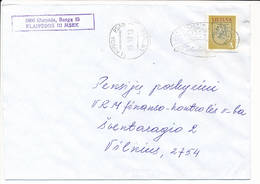 Mi 531 Solo Domestic Slogan Cover NVI Definitive - 13 December 1995 Klaipeda PSAB / Merry Christmas - Lituanie