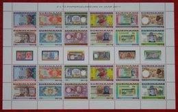 Surinam / Suriname 2011 Paper Money Banknotes Geld Coins  (ZBL 1783-1794- Mi 2460-2471)  POSTFRIS / MNH ** - Surinam