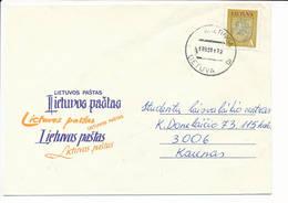 Mi 531 Solo Domestic Slogan Cover NVI Definitive - 22 November 1993 Kretinga - Lituanie