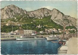 V3176 Capri (Napoli) - Marina Grande - Il Porto - Barche Boats Bateaux / Viaggiata 1955 - Italia