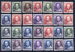 DENMARK 1982-90 Queen Margarethe Definitive Set Of 28 Used,  SG 715-39 - Denmark
