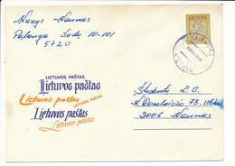 Mi 531 Solo Domestic Slogan Cover NVI Definitive - 9 December 1993 Palanga-1 - Lituanie