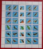 Surinam / Suriname 2011 Complete Sheet Birds Vogel Oiseaux Pajaro (ZBL 1800-1811 Mi 2477-2488)   POSTFRIS / MNH ** - Surinam