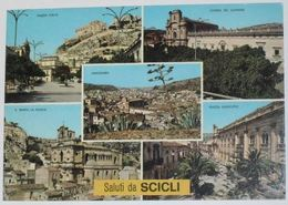 RAGUSA - Saluti Da Scicli -  5 Vedute - Piazza Italia - Piazza Municipio - Panorama - Ragusa