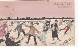 NANCY FROID LES PATINEURS ILLUSTRATEUR ANDRE DUPUIS - Nancy