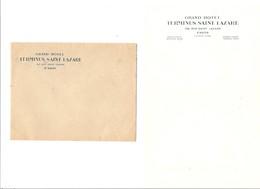 Enveloppe Et Papier A Lettres Hotel Terminus Saint Lazare Paris Années 50 - Toeristische Brochures