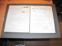 WEGNEZ - 2 FACTURES - 1959 Ateliers Pierre CERFONTAINE Et 1960 Plomberie C LEMAIRE - Belgium