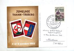 Carte Cachet Thann Jumelage Triberg - Marcophilie (Lettres)