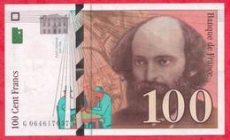 """100 Francs """"Cézanne"""" 1998---XF/SUP+---n °G.064617057 - 1992-2000 Dernière Gamme"""
