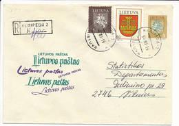 Registered Uprated Stationery Cover NVI Definitive - 16 September 1994 Klaipeda-2 - Lituanie