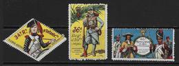 Vignettes Militaires 1914-18  3 Vignettes Infanterie Neuves* (voir Description) - Erinnophilie