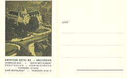 Carte Postale  American Hotel Amsterdam Des Années 50 - Dépliants Touristiques