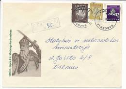 Registered Cover NVI Definitives - 17 January 1995 Gargždai - Lituanie