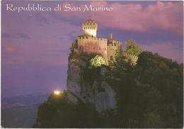V3180 Repubblica Di San Marino - Fratta - Seconda Torre - Panorama Notturno Notte Nuit Night Nacht / Viaggiata 2002 - San Marino