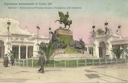 """1965 """"ESPOS. INT. DI TORINO 1911-INGRESSO-MONUM. PRINCIPE AMEDEO E PADIGLIONE ELETTRICITA'  """"CART. POST. ORIG. SPEDITA - Exhibitions"""