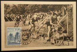 CARTE POSTALE PBW CESKOSLOVENSKO COPPI 1953 - Cyclisme