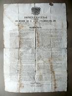 Sentenza Giovine Italia Moti Lesa Maestà Mattioli Mascagni Zocca Modena 1835 - Vecchi Documenti