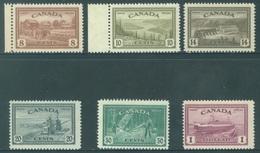 CANADA  - MNH/*** LUXE - 1945 - PAX ECONOMY - Yv 219-224 - Lot 18487 - 1937-1952 Règne De George VI