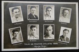 CARTE TOUR DE FRANCE CYCLISTE 1935 EQUIPE BELGE - Cyclisme