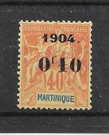 MARTINIQUE - N° 55 NEUF *- COTE = 27.00 € - Martinique (1886-1947)