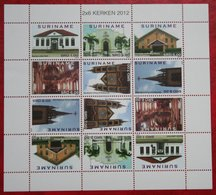 Surinam / Suriname 2012 Kerken Churches églises Kirchen Complete Sheet (ZBL 1875-1880 Mi 2553-2558 ) POSTFRIS / MNH ** - Surinam