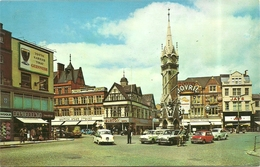 CLOCK  TOWER AND  CITY  CENTRE   ,  LEICESTER - Cartes Postales