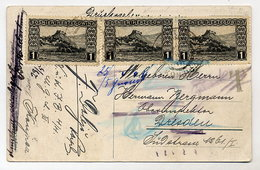 BOSNIA & HERZEGOVINA  Picture Postcard: Dubrovnik With 1906 Views 1 H. Stamp X 3 - Bosnia And Herzegovina